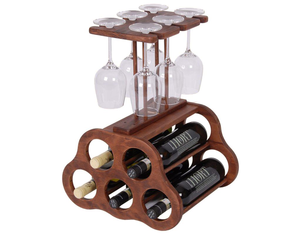 Domácí vinotéka 648 - Malá dřevěná vinotéka na 5 lahví