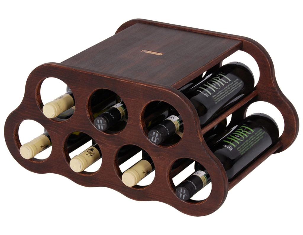 Domácí vinotéka 649 - Malá dřevěná vinotéka na 7 lahví