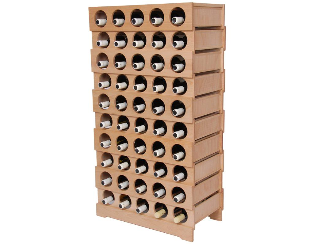 Domácí vinotéka 651 - Dřevěná vinotéka na 50 lahví vína
