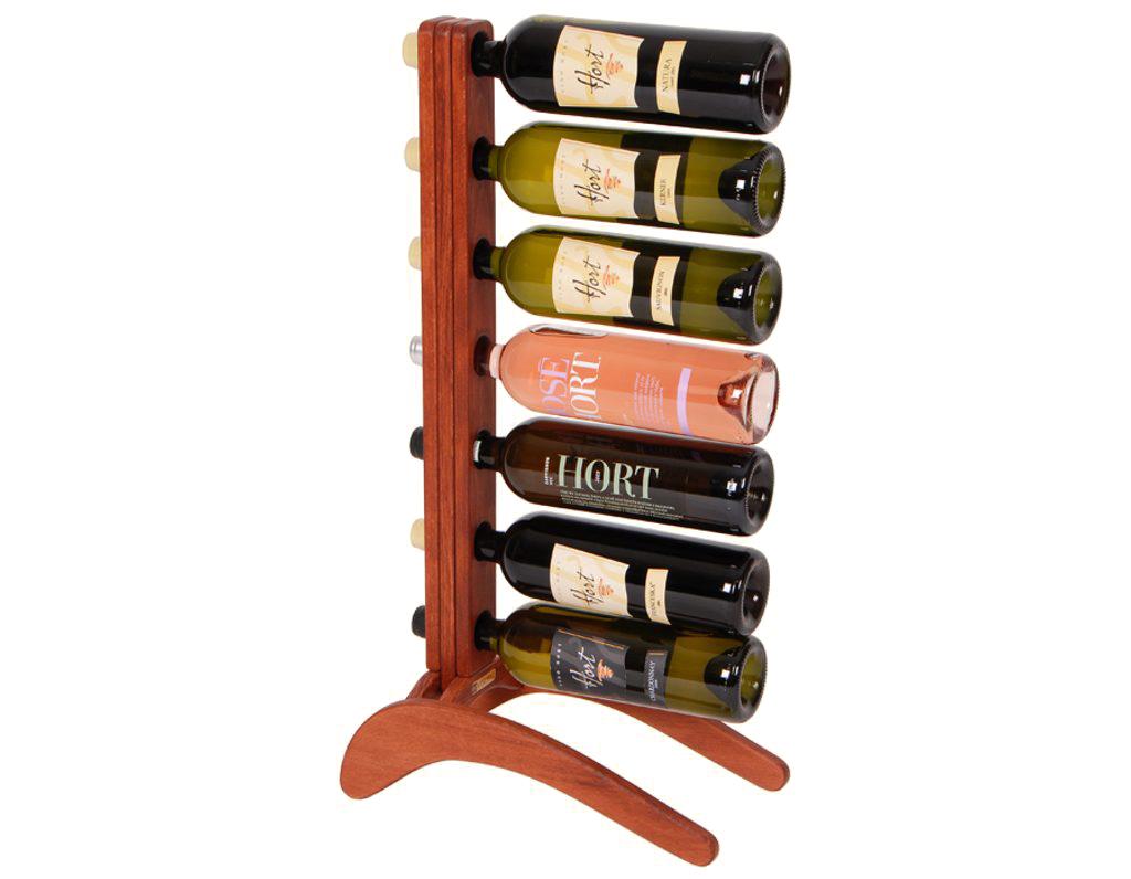 Stojan na víno 612 - Dřevěný stojan na 7 lahví vína