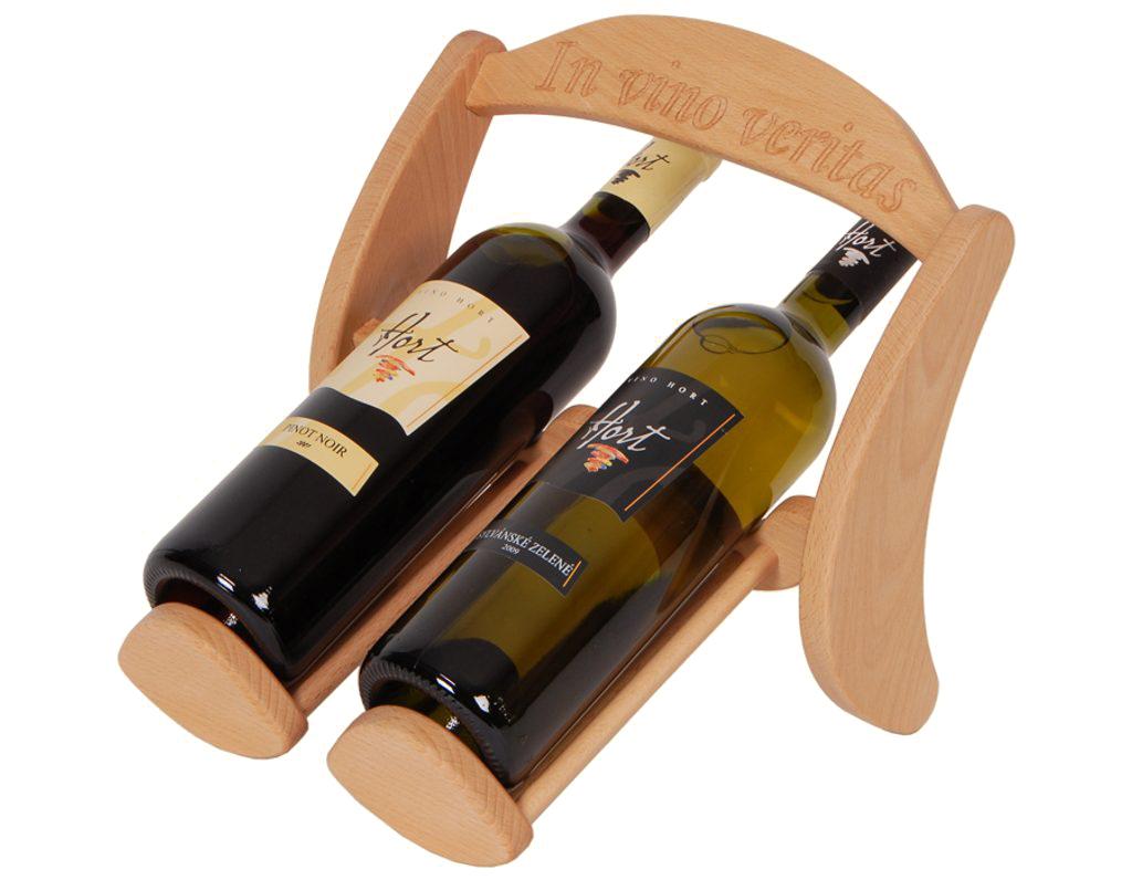 Stojan na víno 622 - Dřevěný stojan na 2 lahve vína
