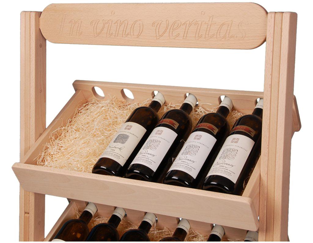 Stojan na víno 623 - Dřevěný stojan na 30 lahví vína