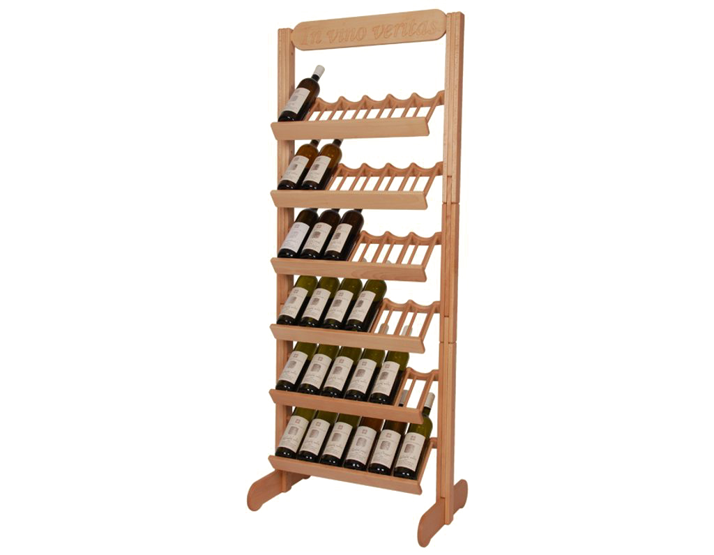 Stojan na víno 610 - Dřevěný stojan na 36 lahví vína