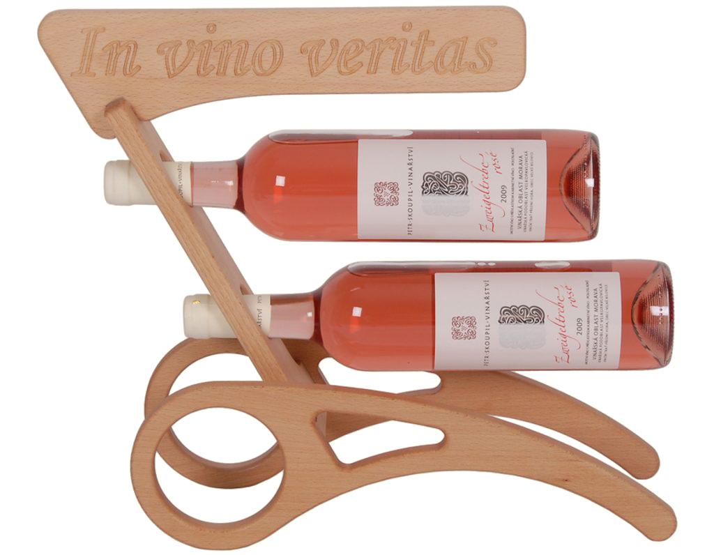 Stojan na víno 625 - Dřevěný stojan na 2 lahve vína
