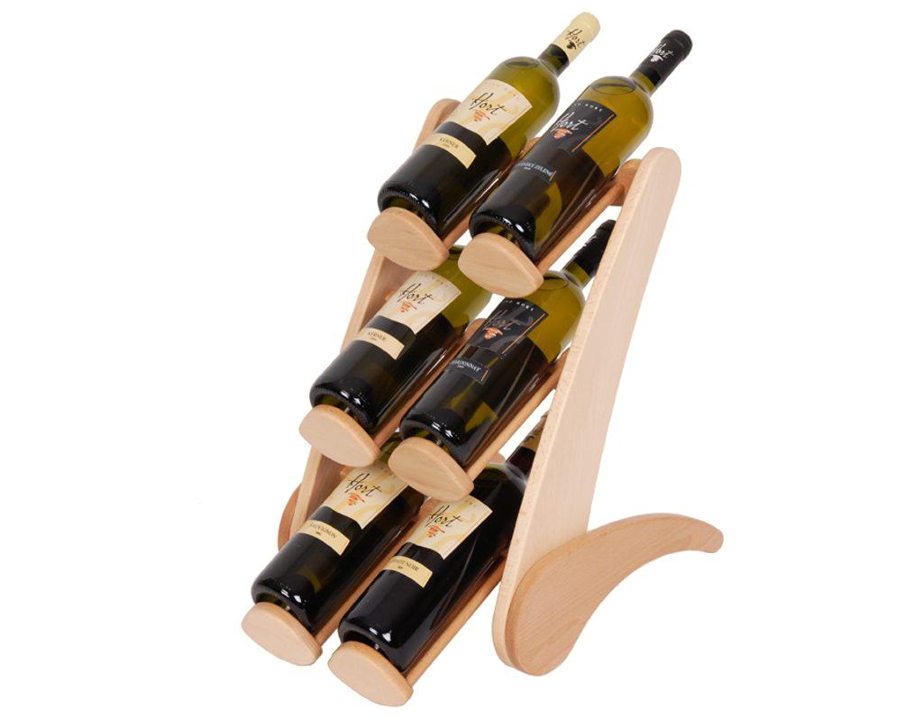 Stojan na víno 659 - Dřevěný stojan na 6 lahví vína