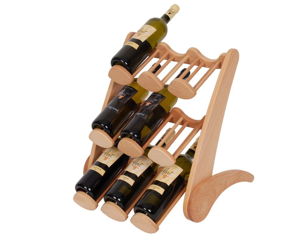 Stojan na víno 660 - Dřevěný stojan na 9 lahví vína