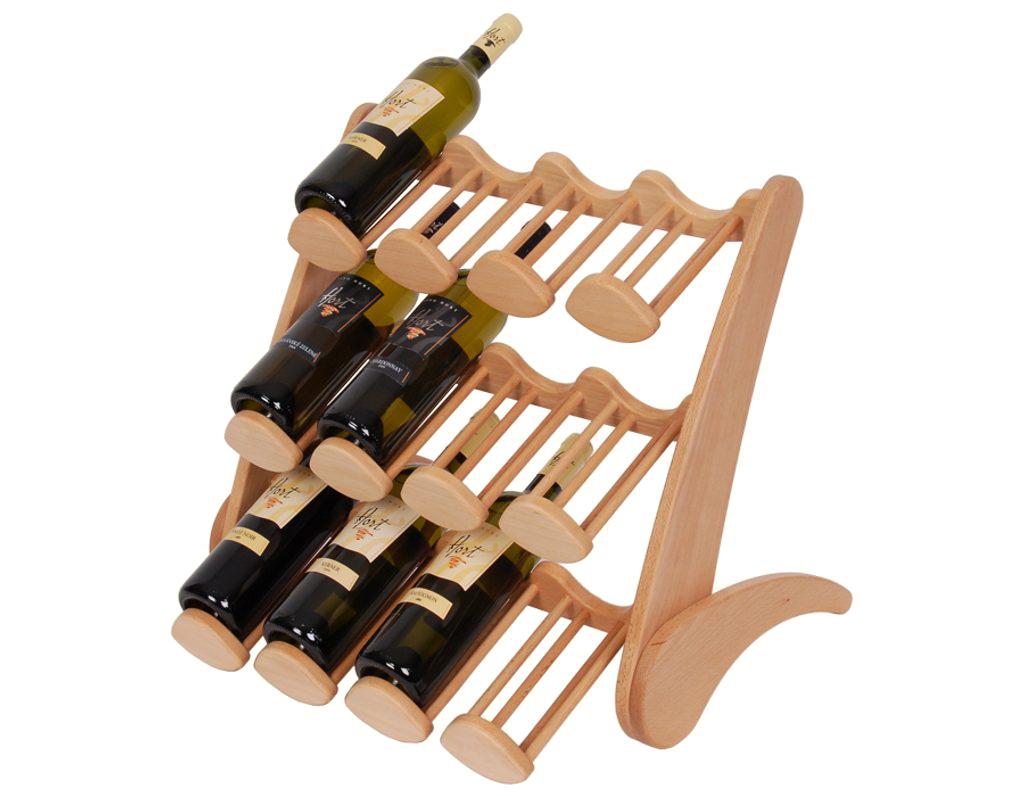 Stojan na víno 661 - Dřevěný stojan na 12 lahví vína
