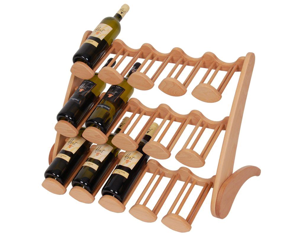 Stojan na víno 662 - Dřevěný stojan na 15 lahví vína