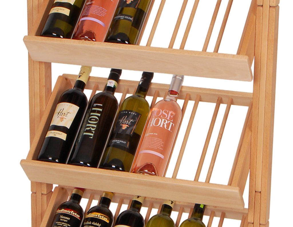Stojan na víno 656 - Dřevěný stojan na 30 lahví vína