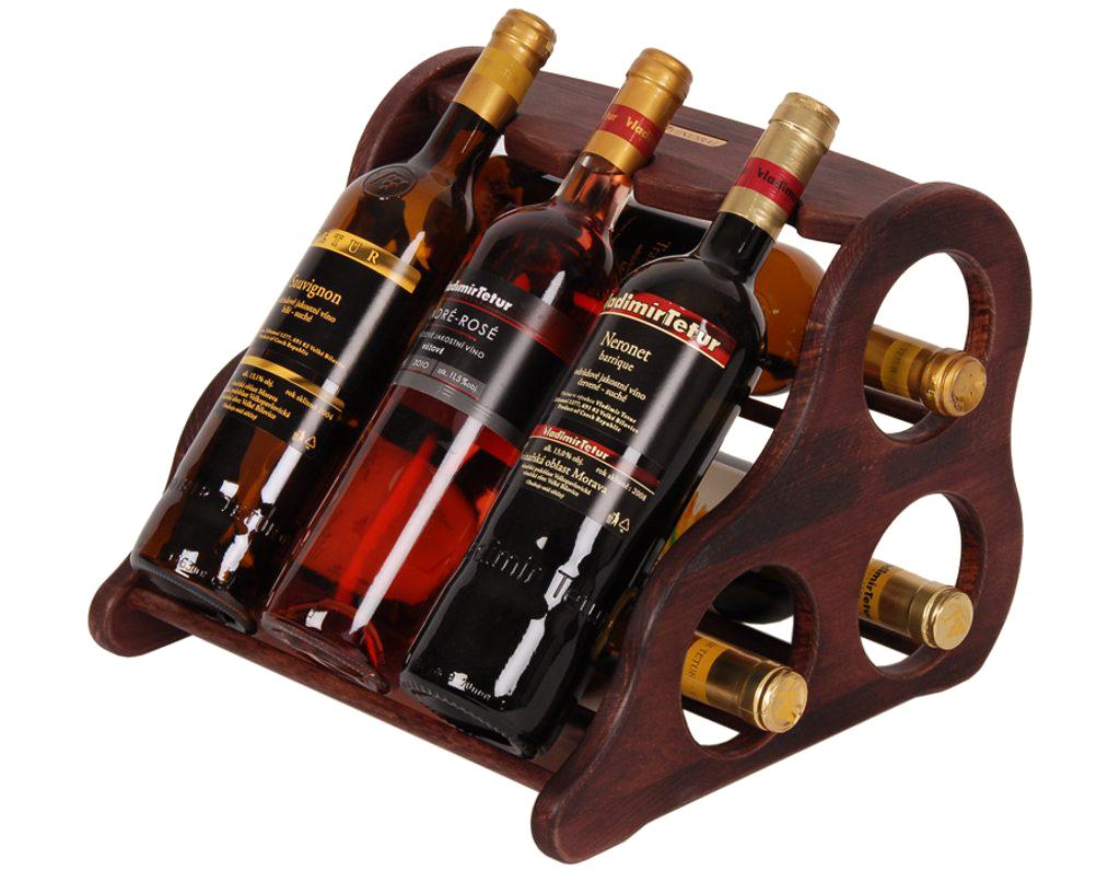 Domácí vinotéka 663 - Dřevěná vinotéka na 6 lahví vína