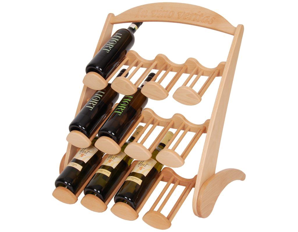 Stojan na víno 604 - Dřevěný stojan na 12 lahví vína