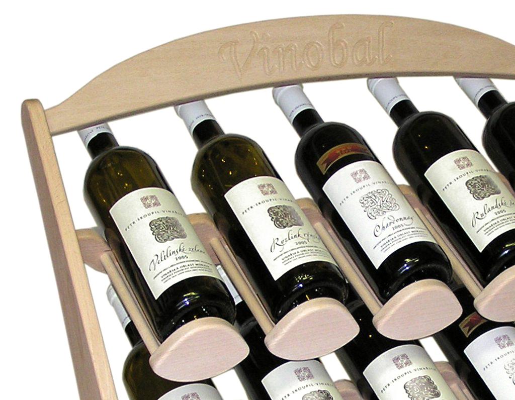 Stojan na víno 605 - Dřevěný stojan na 15 lahví vína