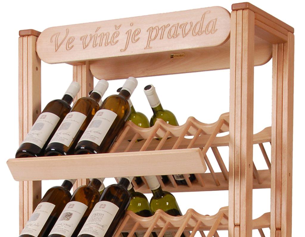 Stojan na víno 606 - Oboustranný stojan na 72 lahví