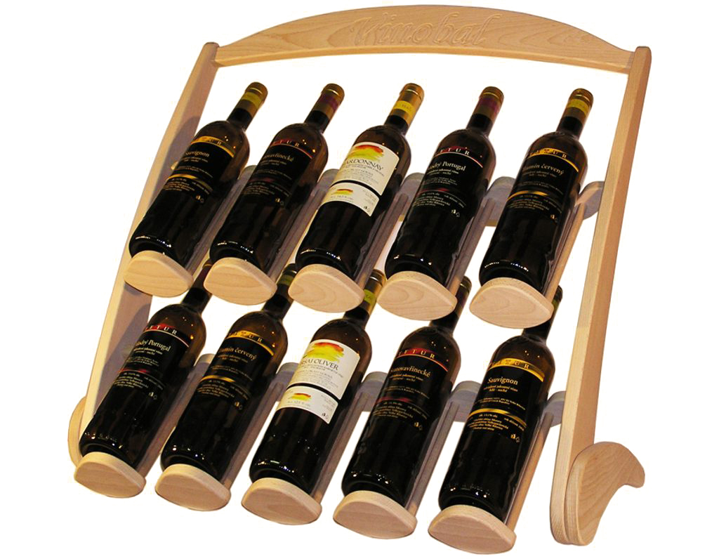 Stojan na víno 607 - Dřevěný stojan na 10 lahví vína