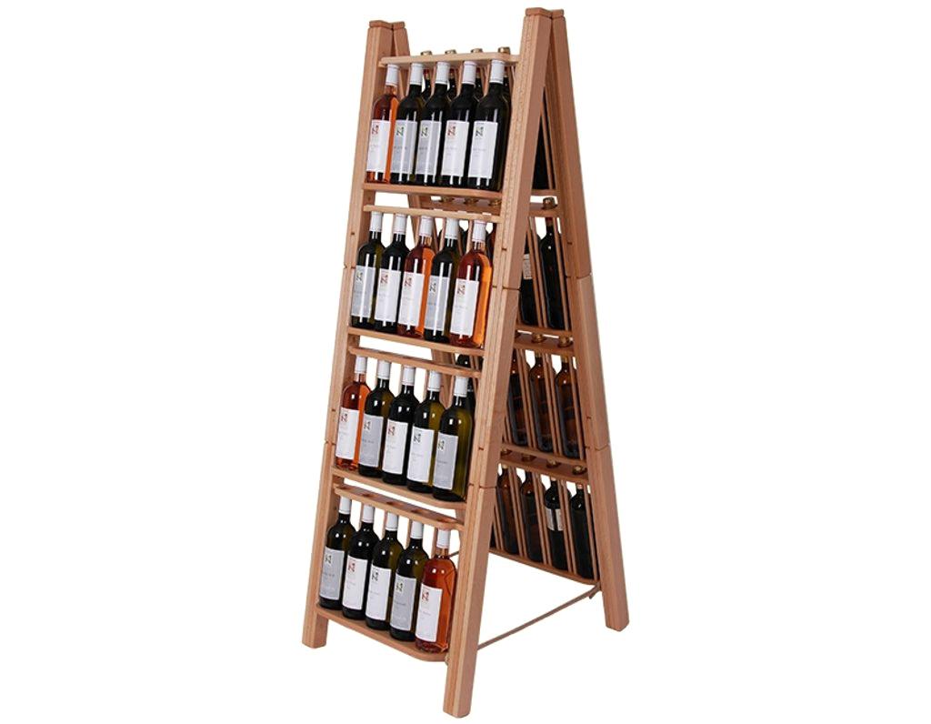 Stojan na víno 666 - Dřevěný stojan na 40 lahví vína
