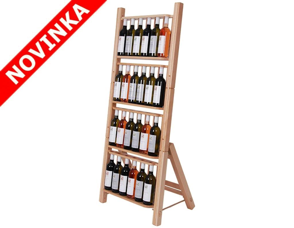 Stojan na víno 667 - Dřevěný stojan na 24 lahví vína