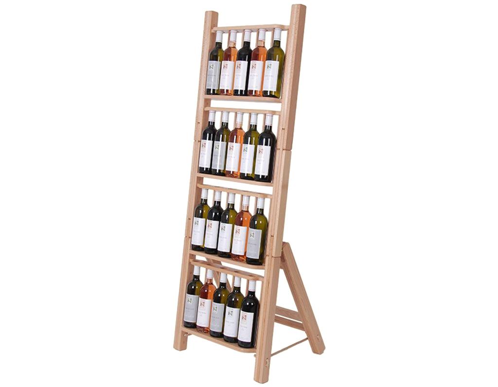Stojan na víno 668 - Dřevěný stojan na 20 lahví vína