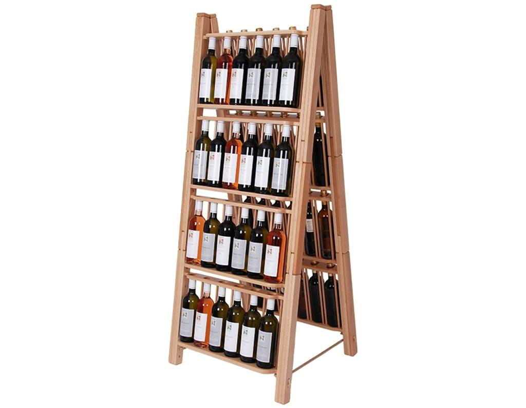 Stojan na víno 665 - skládací stojan na 48 lahví