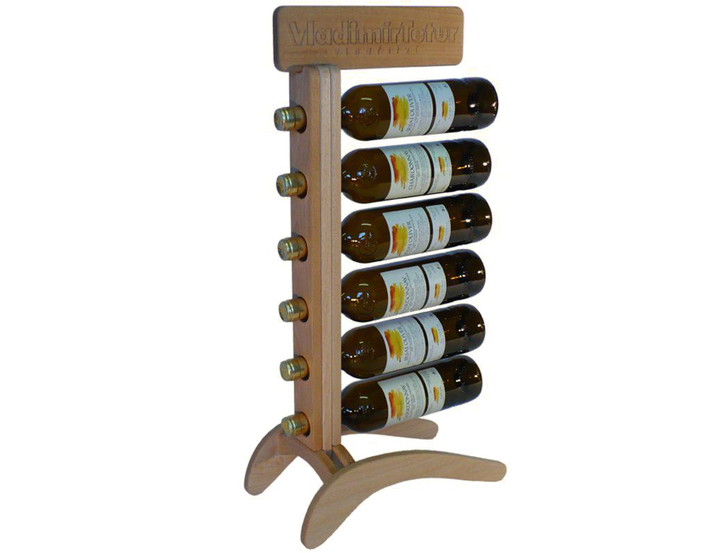 Stojan na víno 614 - Dřevěný stojan na 6 lahví vína
