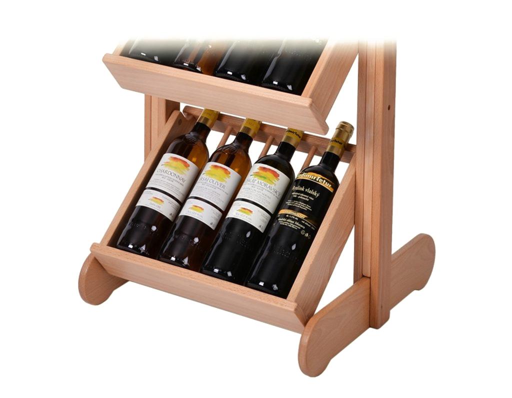 Stojan na víno 671 - Dřevěný stojan na 20 lahví vína