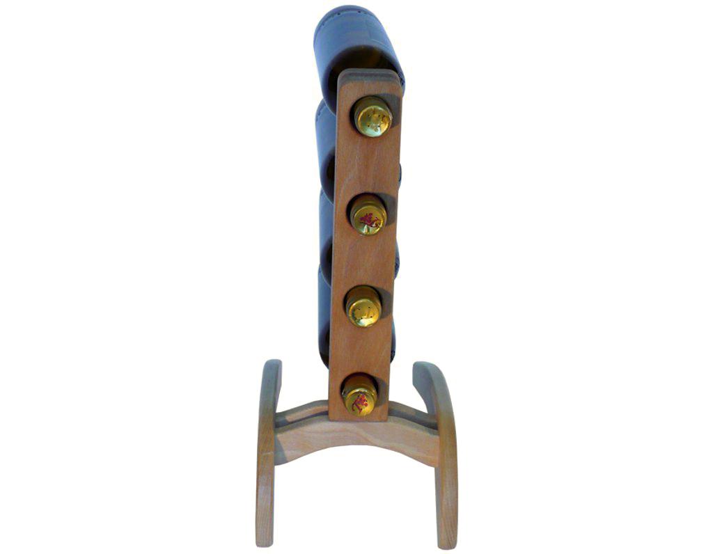 Stojan na víno 615 - Dřevěný stojan na 4 lahve vína