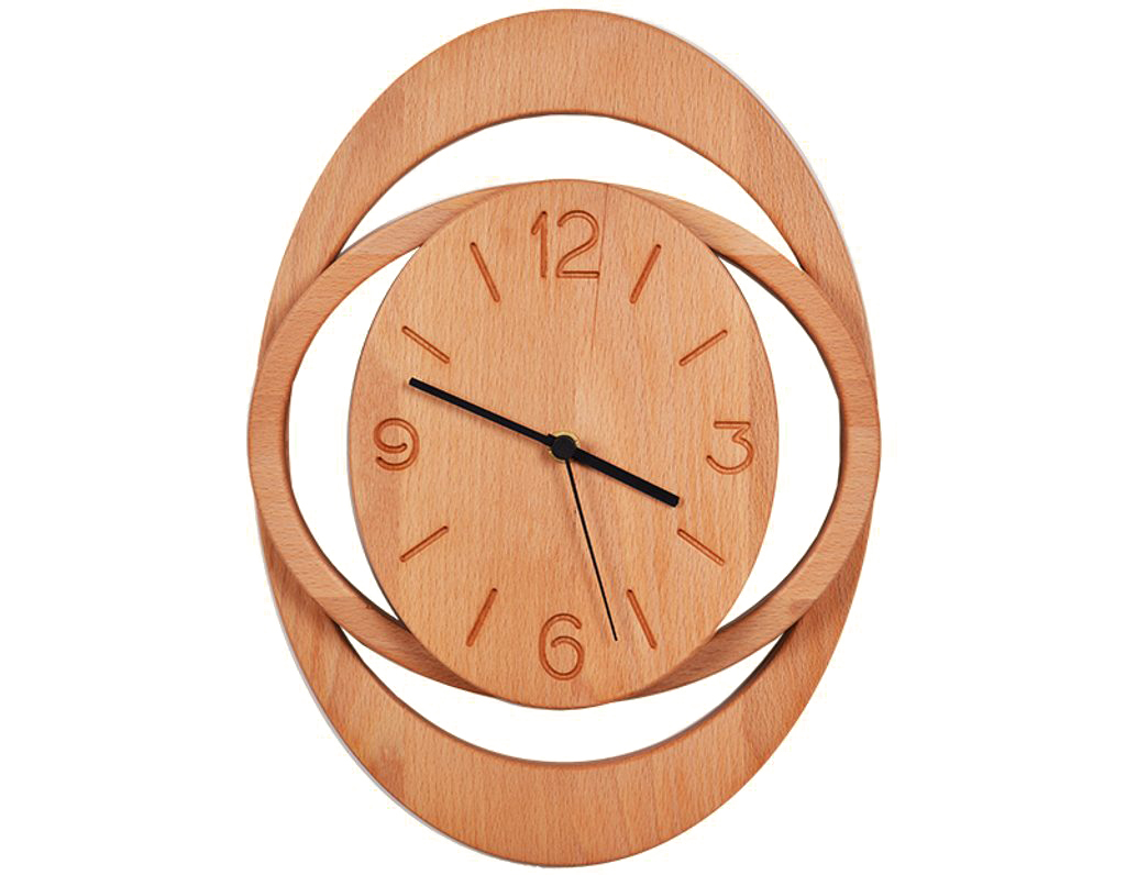 Dřevěné hodiny 903