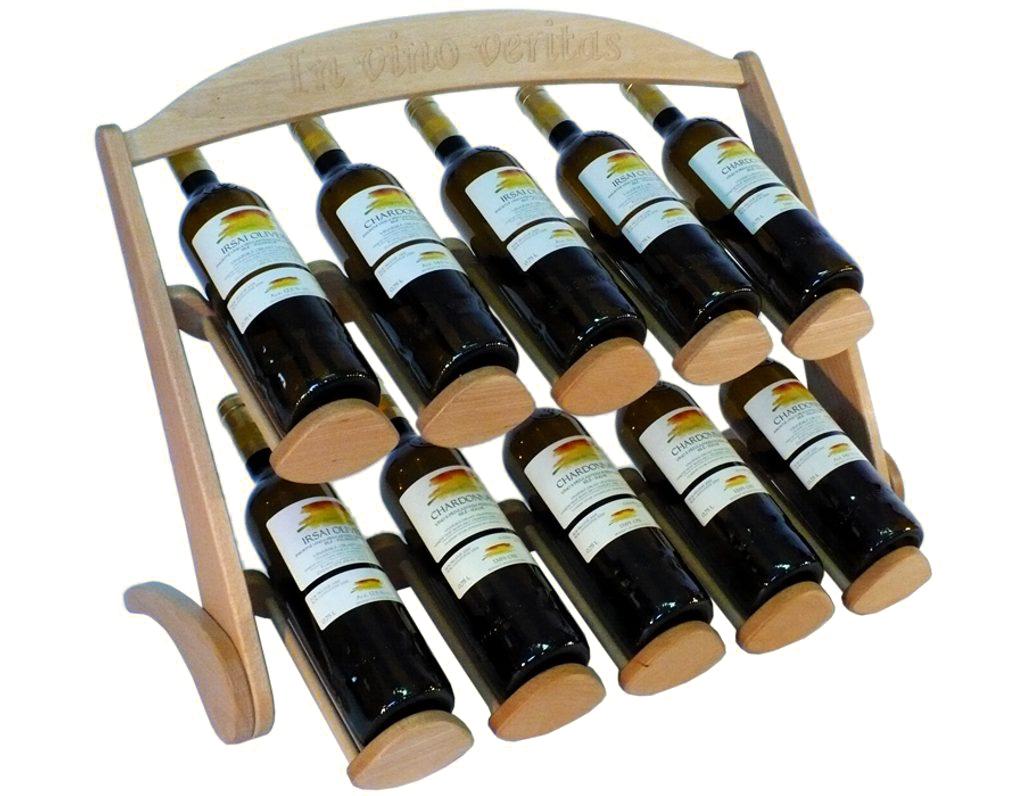 Stojan na víno 616 - Dřevěný stojan na 10 lahví vína