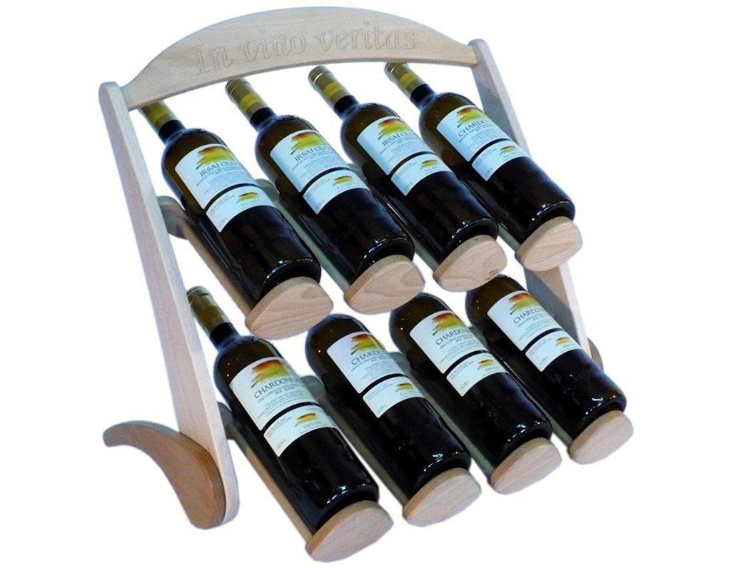 Stojan na víno 617 - Dřevěný stojan na 8 lahví vína
