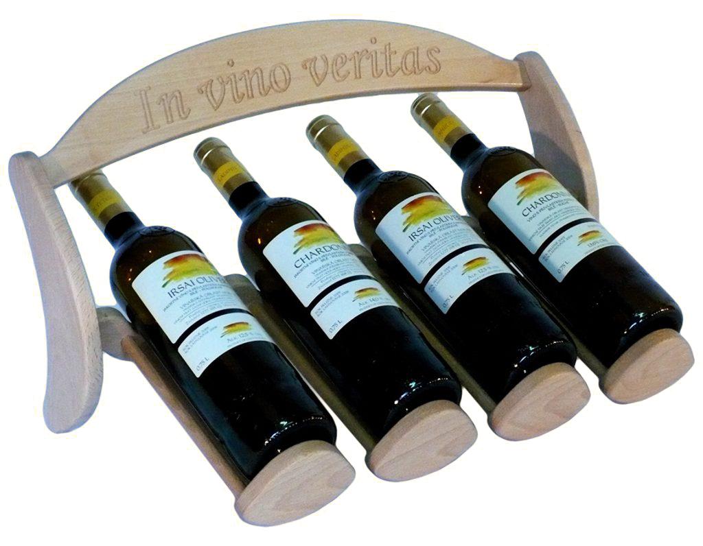 Stojan na víno 620 - Dřevěný stojan na 4 lahve vína