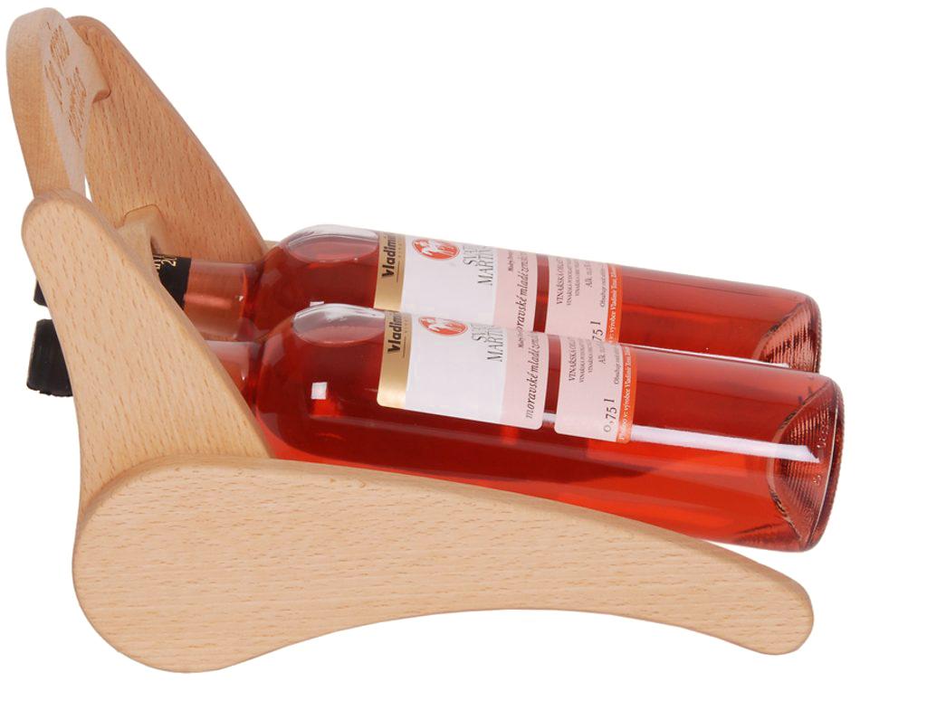 Stojan na víno 630 - Dřevěný stojan na 2 lahve vína