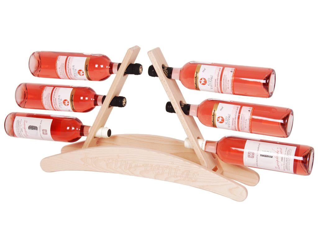 Stojan na víno 634 - Dřevěný stojan na 6 lahví vína