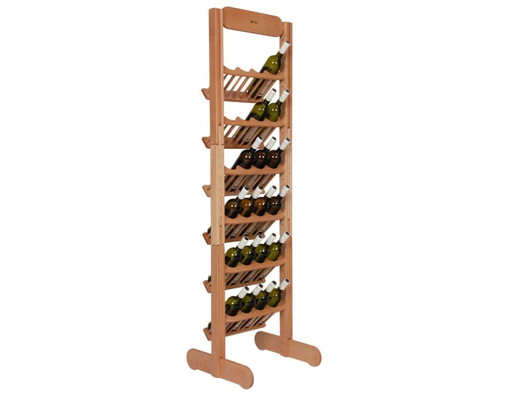 Stojan na víno 635 - Dřevěný stojan na 24 lahví vína