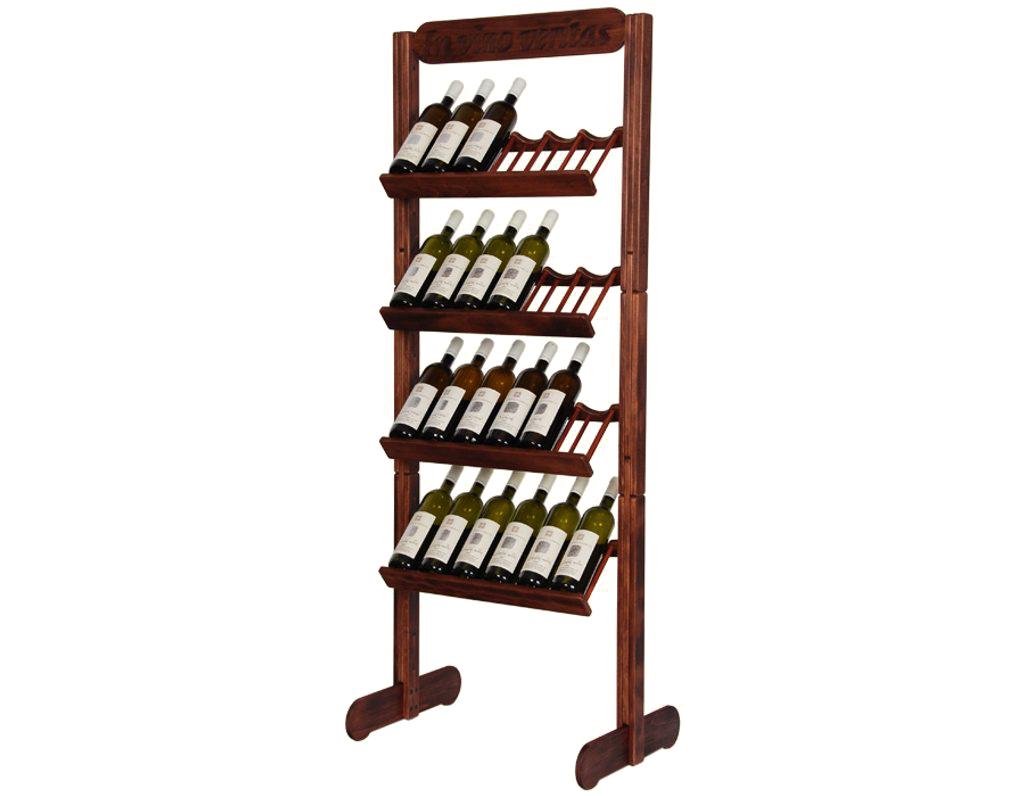 Stojan na víno 637 - Dřevěný stojan na 24 lahví vína