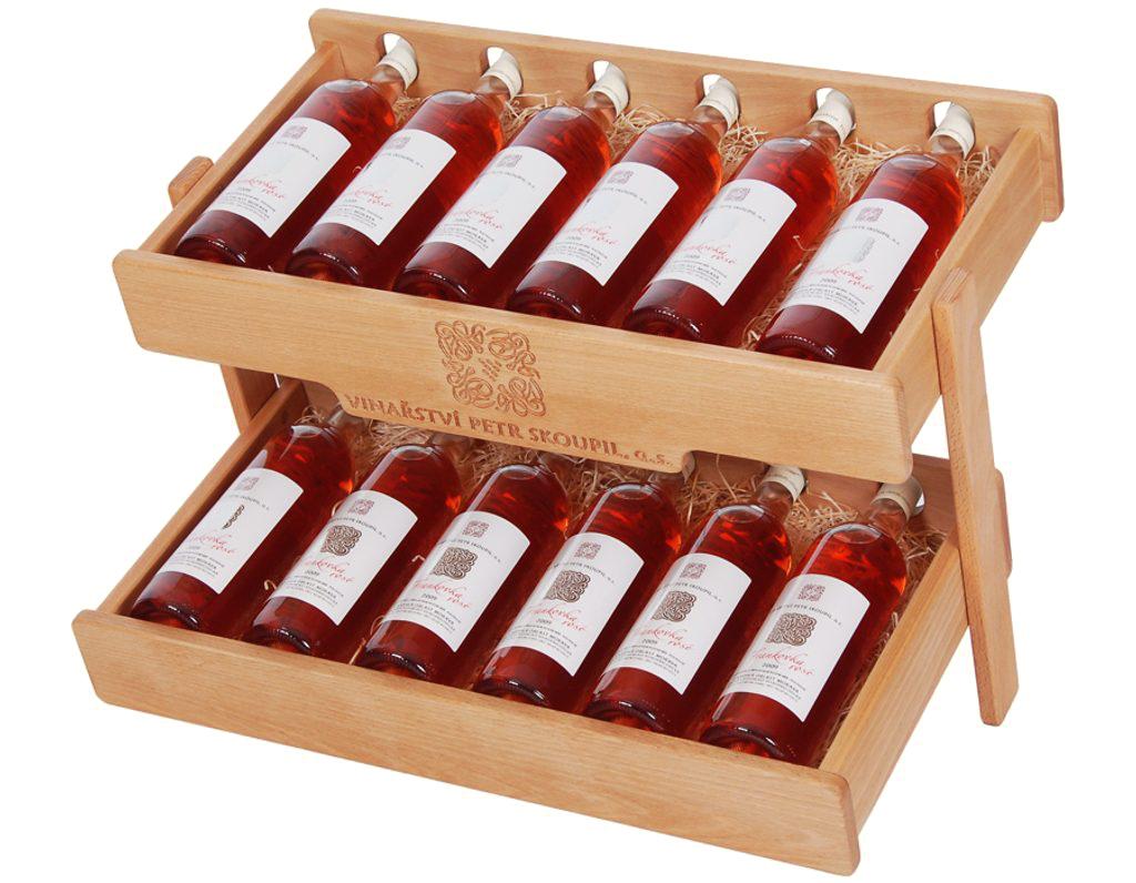 Stojan na víno 640 - Dřevěný stojan na 12 lahví vína