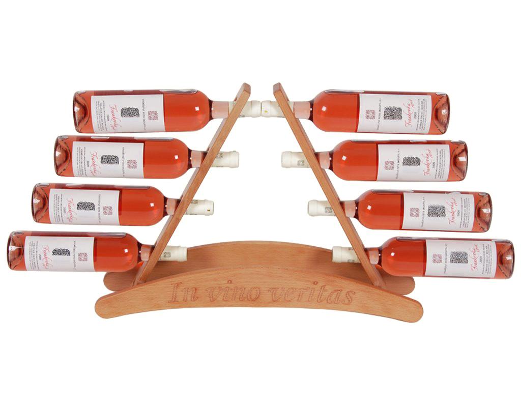 Stojan na víno 645 - Dřevěný stojan na 8 lahví vína