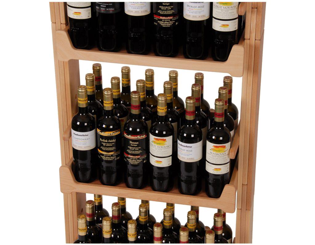 Stojan na víno 654 - Dřevěný stojan na 72 lahví vína