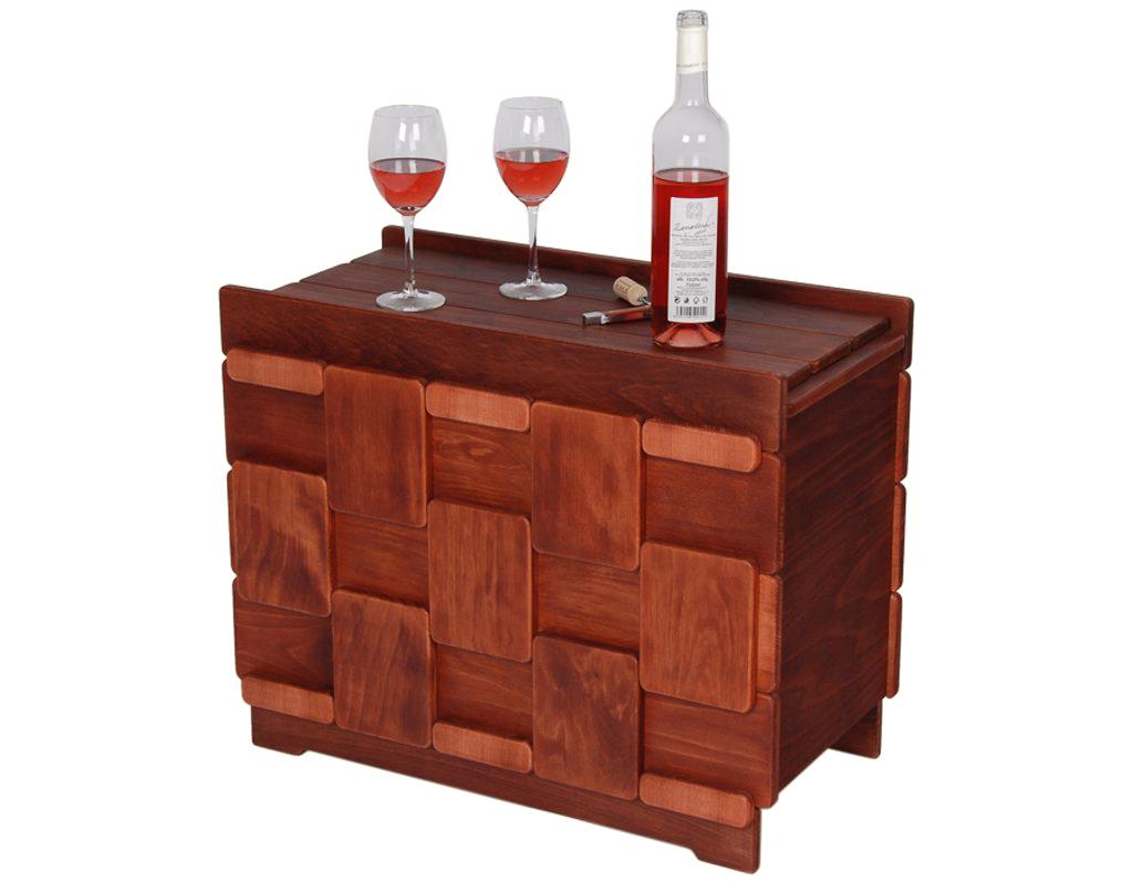Domácí vinotéka 639 - Dřevěná vinotéka na 15 lahví vína
