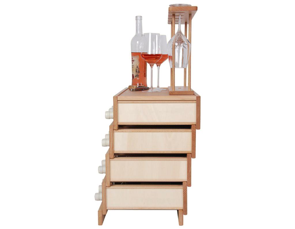 Domácí vinotéka 642 - Dřevěná vinotéka na 20 lahví vína